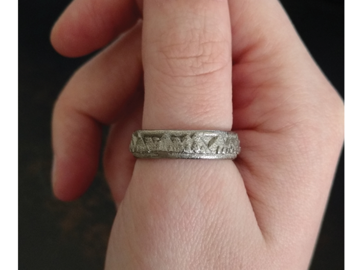 Mountain Landscape Ring, size 11 3d printed