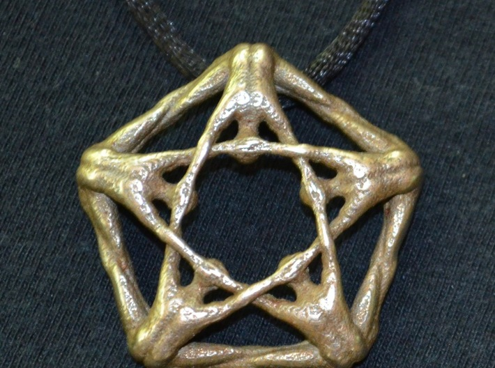 Pentaman pendant - Naked Geometry 3d printed