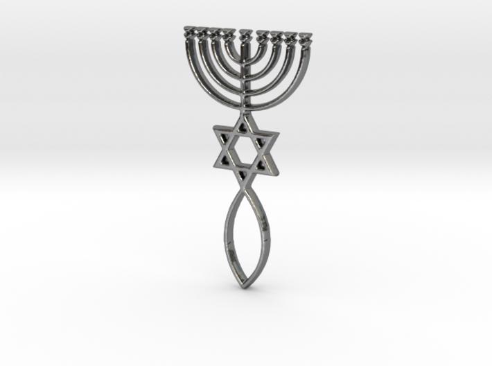 Messianic Seal Pendant 3d printed