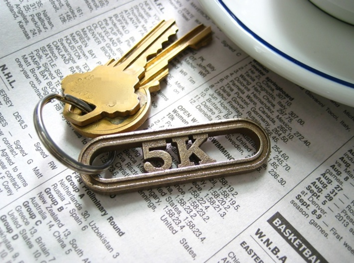 5K Keychain for Runners 3d printed Running Keychain