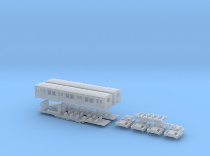 BR 875/275 Berliner S-Bahn, Viertelzug (Z, 1:220) 3d printed