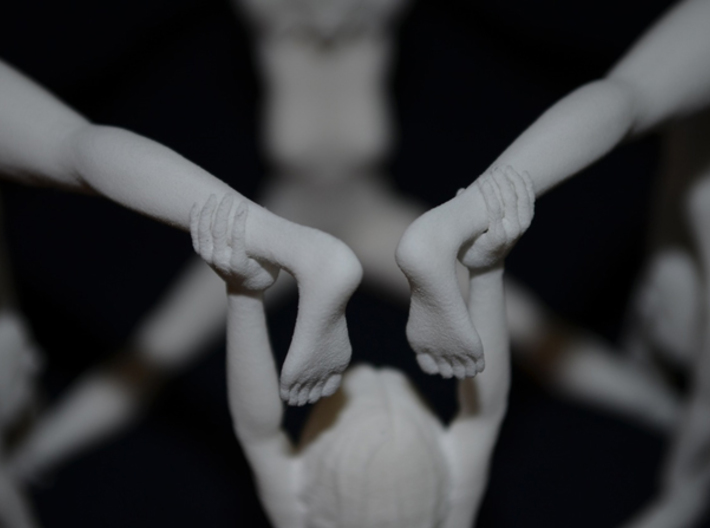 The Human Cube - 2 female elements - Naked Geometr 3d printed Hands and feet click together