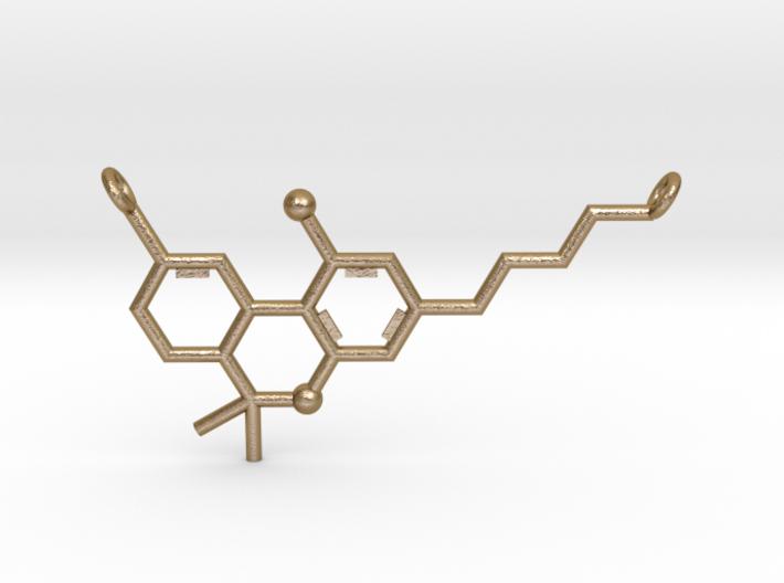 THC (Tetrahydrocannabinol) Pendant 3d printed