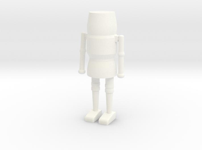 Simple Solid Nutcracker 3d printed