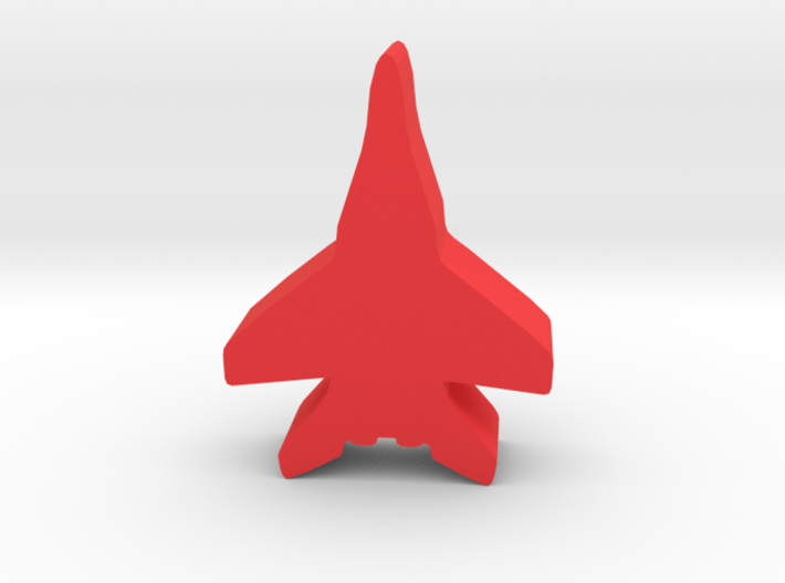 Game Piece, Red Force Fulcrum Fighter 3d printed