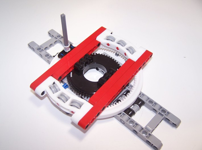 Turntable Support 13 studs diameter 3d printed