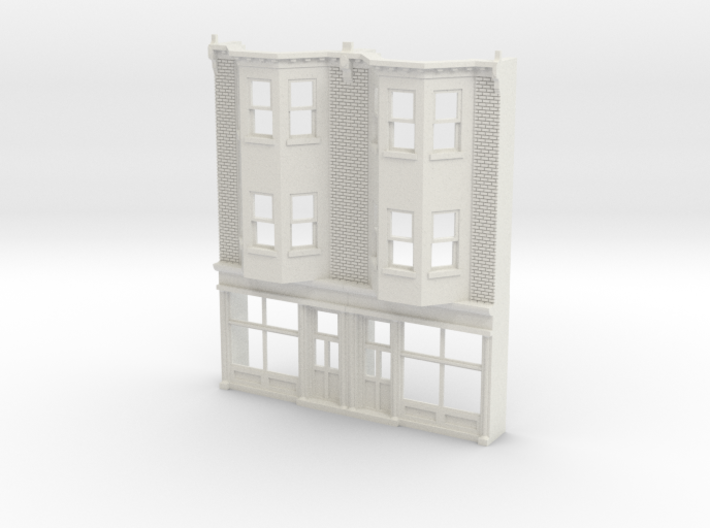 HO scale WEST PHILLY 3S ROW STORE Twin 87 Brick 3d printed