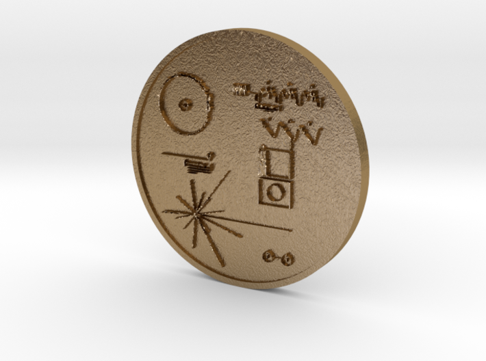 Voyager I Golden Record Medal 3d printed