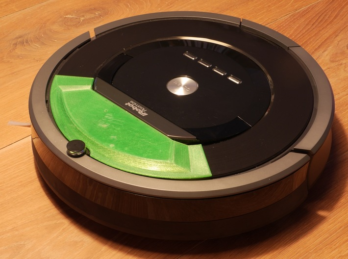Thinking Cleaner 800, iRobot Roomba 8xx DIY cover 3d printed EARLY PROTOTYPE on Roomba 800