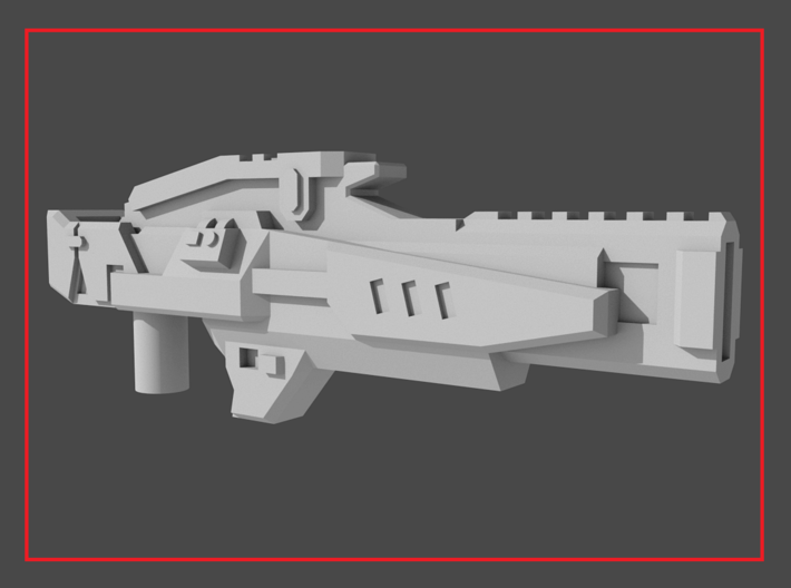 """""""ENFORCER"""" Transformers Weapon (5mm post) 3d printed"""
