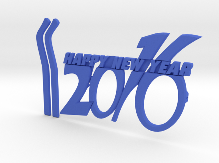 NEWYEAR 2016 FUNKY GLASSES 3d printed