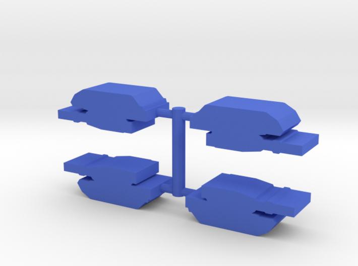 Game Piece, Blue Force Abrams Tank, 4-set 3d printed