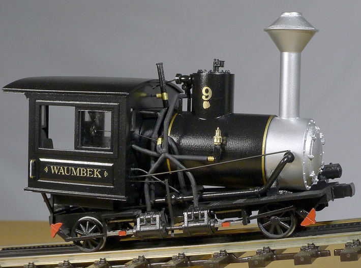Cog Railway Locomotive #9 - O Scale 3d printed Painted and detailed model by Warren Disbrow.