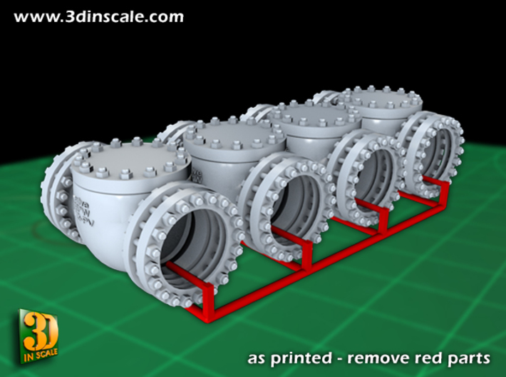 Pipeline Accessory System Valve3 - 9,5mm 3d printed Valve No.3 - for 9,5mm pipe - 4pieces