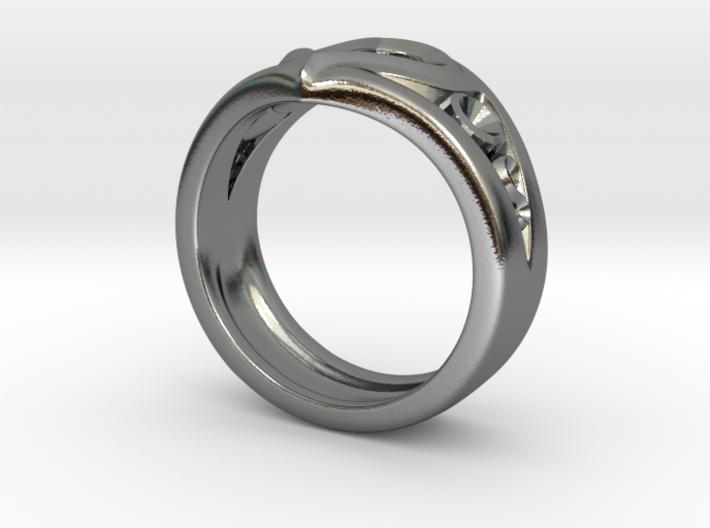 Heart Ring(Inner diameter of ring 18mm) 3d printed
