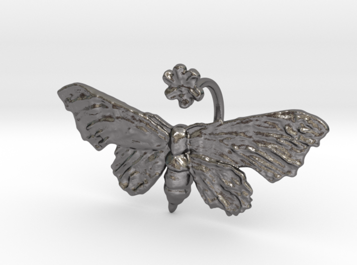 Fantasy Moth Ring size 7 3d printed