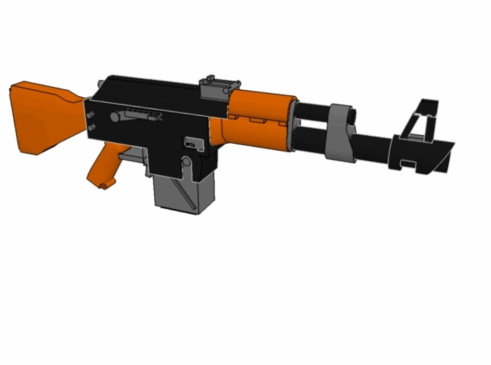 28mm SciFi LK-47 laser rifles (10) 3d printed