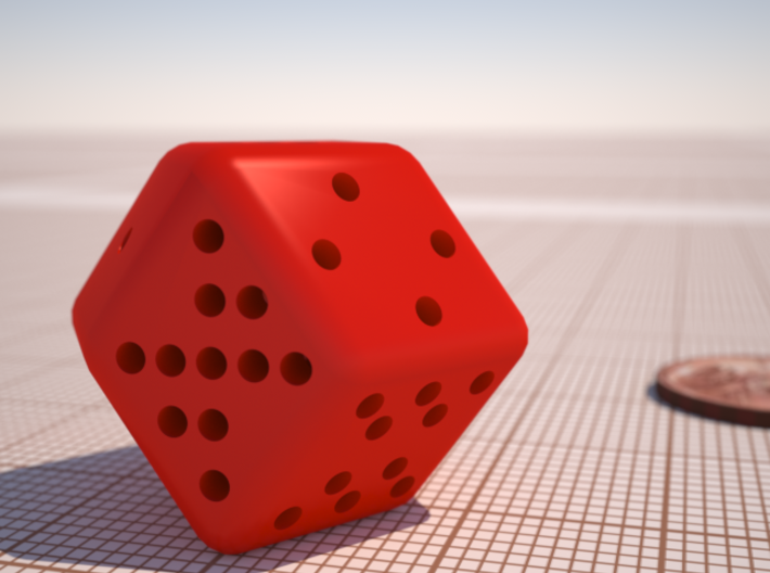 12 sided Dice 3d printed