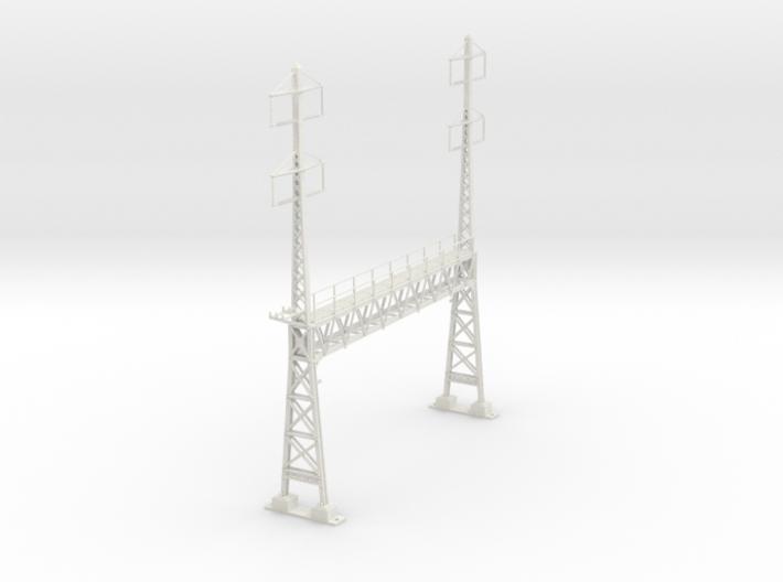 PRR CATENARY HO SCALE ANCHOR & SIGNAL BRIDGE 2-2 P 3d printed