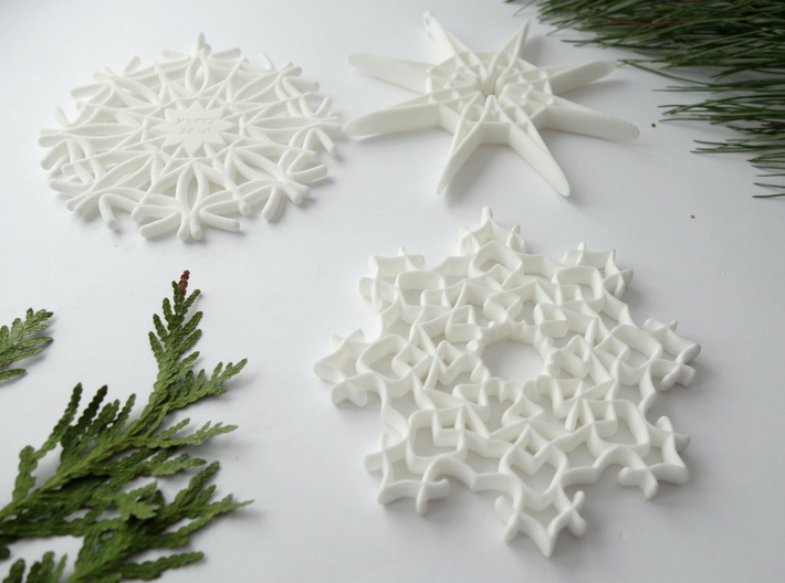 Fancy Snowflake 3d printed