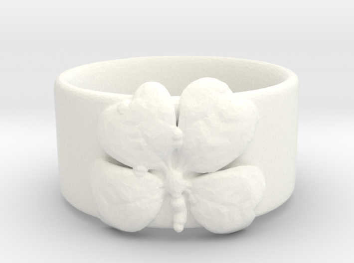 Four Leaf Clover Ring Size 6 3d printed
