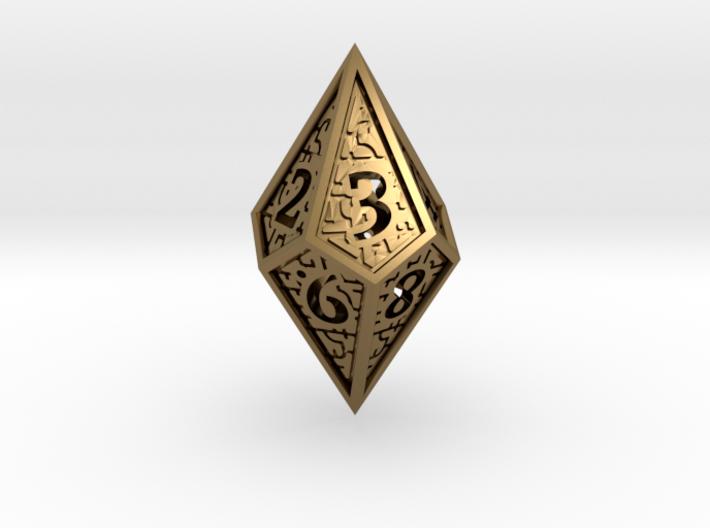Hedron D10 (v2 closed) Spindown - Hollow 3d printed