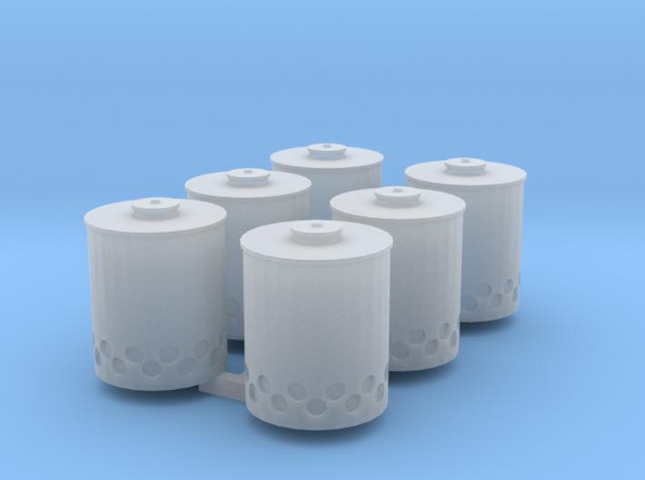 Smoke Potsx6 3d printed