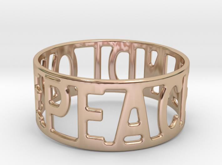 Peaceandlove 68 Bracelet 3d printed