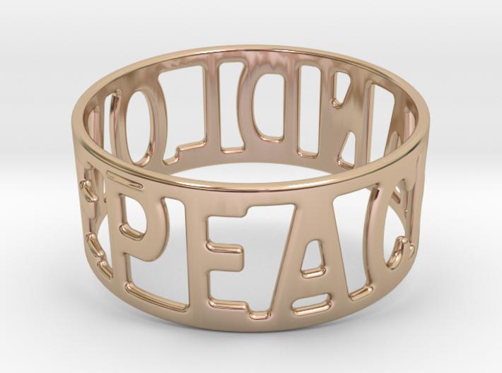 Peaceandlove 75 Bracelet 3d printed
