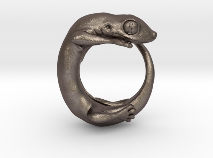 (Size 5) Gecko Ring 3d printed