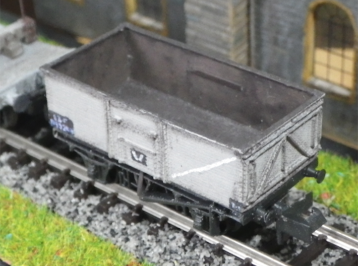 Steel-built 13t Private Owner Coal Wagon 3d printed Post-nationalisation livery.The coal-tipping end