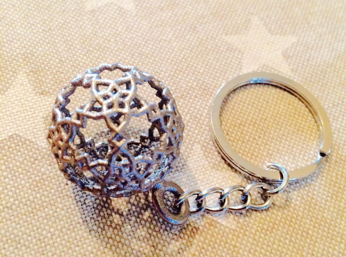 Sphere-132-Washer 3d printed Keychain not included