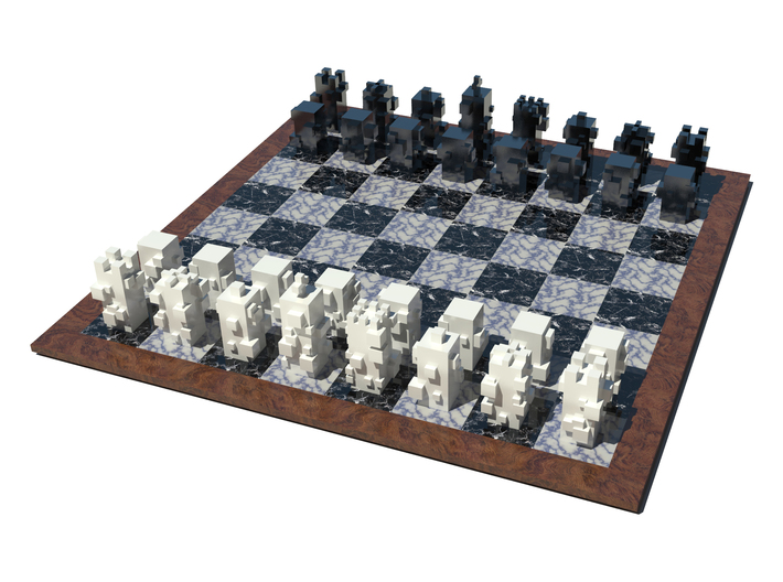 Cubic Chess - Knight 3d printed