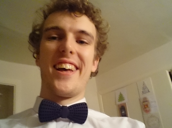 Bow Tie with Radial Holes 3d printed