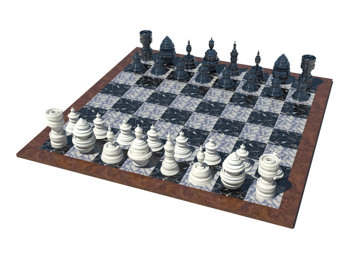 Fractality Chess - Rook 3d printed