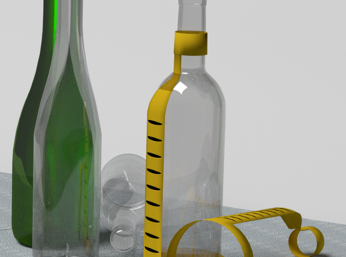Levels for wine bottle. 3d printed