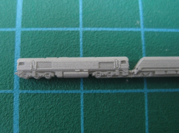 BR Class 66 with coal hopper train (1:1250) 3d printed