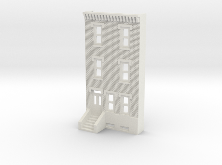 N SCALE ROW HOME FRONT 3S 3d printed