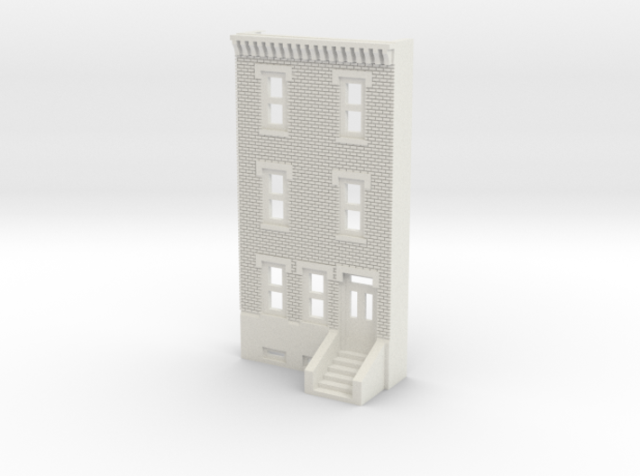 N SCALE ROW HOUSE FRONT 3S REV 3d printed