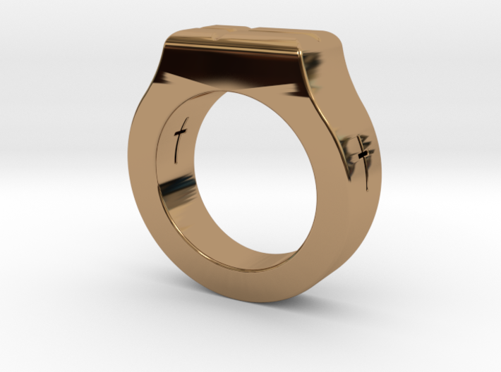 Holy Cross Ring 3d printed