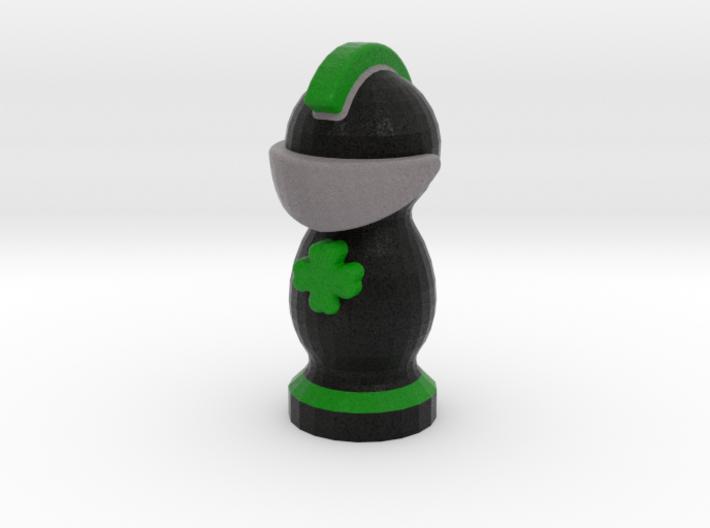 Catan Robber Knight Blk Grn Irish 3d printed