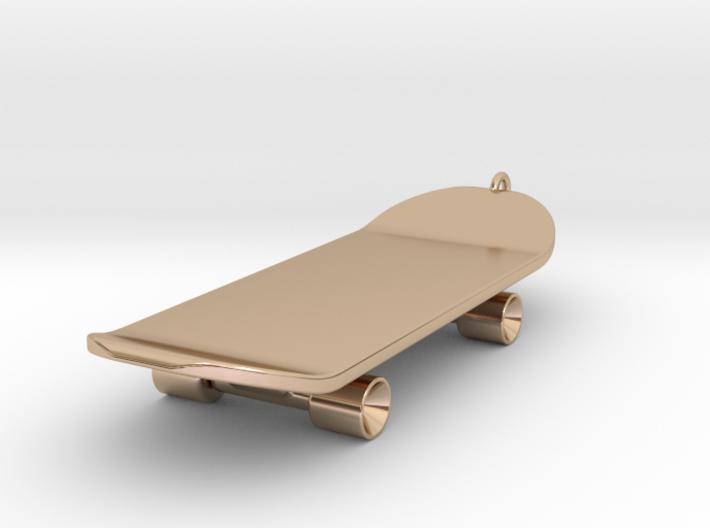 Skateboard Charm 3d printed