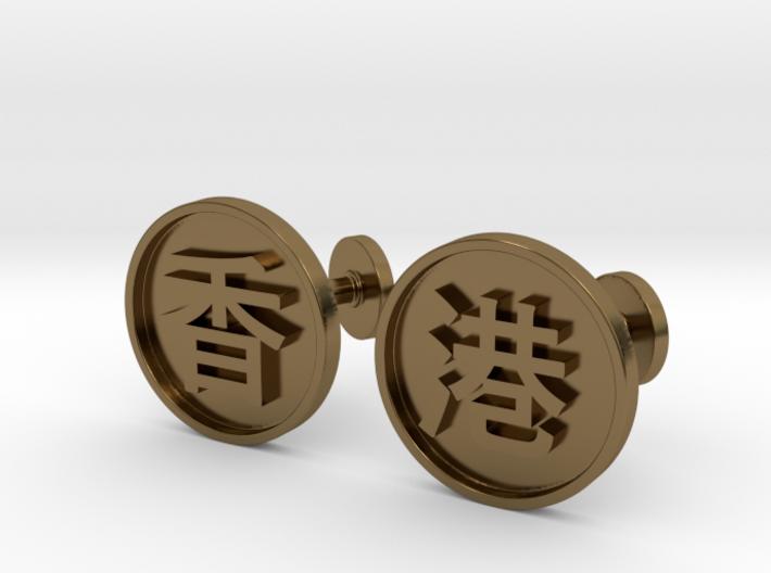 Elegant Cuff-links Hong Kong 3d printed