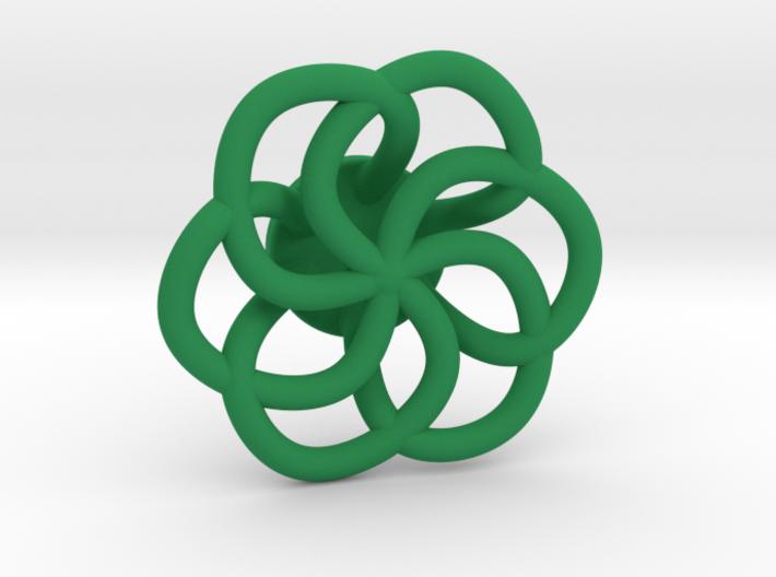 Orecchino Intreccio Fiore Come Anello 3d printed