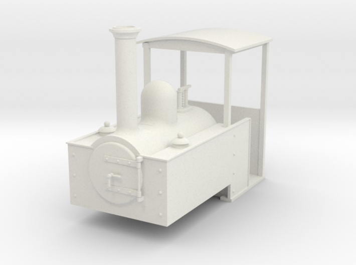 Gn15 Decauville style steam loco 3d printed