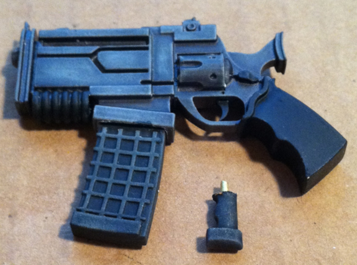 D Pool BIG A** SCIFI Blaster Gun Super Comic Hero  3d printed PAINTED EXAMPLE***FIGURE & PHOTO BY MIKE5401 (Mike Pister)***