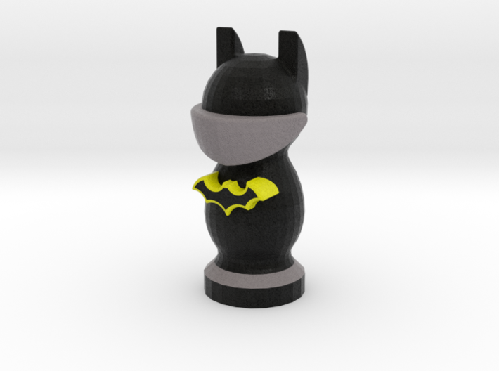 Catan Robber Knight Blk Ylw Batman 3d printed Does this outfit make my ears look big?