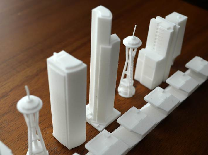 Seattle King Building 3d printed
