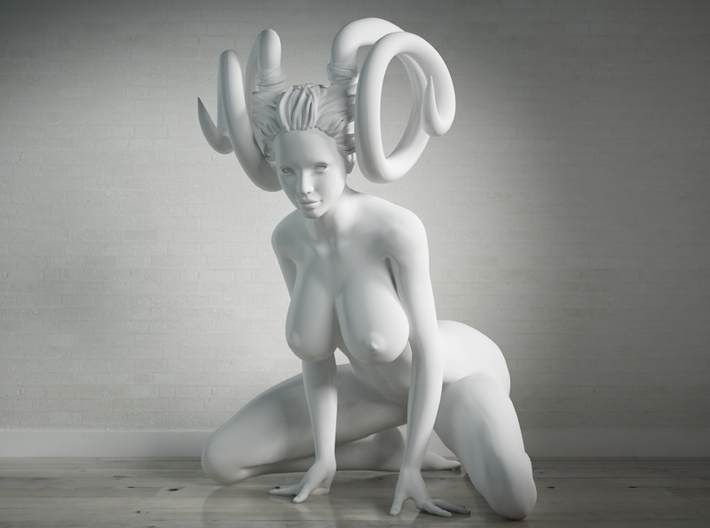 Evil Girl-001 scale 1:24 3d printed