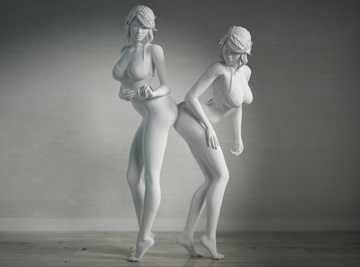 Nice Bottom Girls-001 scale 1/10 Passed 3d printed